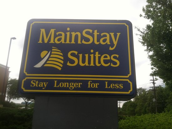 MainStay Suites Greenville Airport: Sign out front.