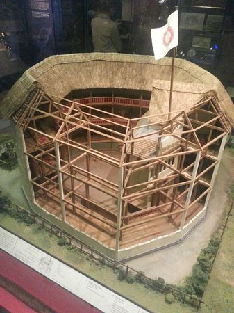 Museum of London : The outside theatre. I think this is the old Globe model