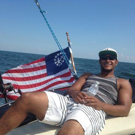 Orange Beach Sailing Charters and Sunset Cruises: My son enjoying the sail