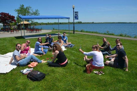 Ramada Plaza Geneva Lakefront Resort: picnic area outside tent, post wedding brunch