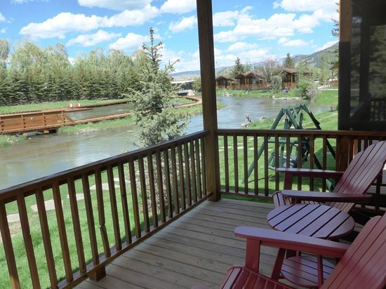 Rustic Inn Creekside Resort and Spa at Jackson Hole: view from balcony