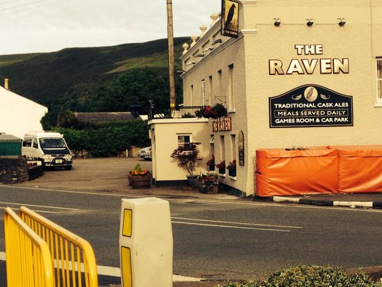 The Raven Pub: This was taken early on the day we left! Not like this normally
