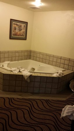 La Quinta Inn & Suites Great Falls: Jacuzzi suite - in desperate need of an update!