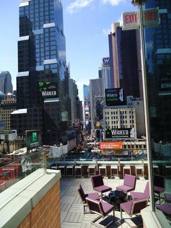 Novotel New York Times Square: Vista do terraço do Novotel