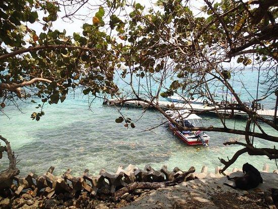 Tours en Islas del Rosario: Entrada da ilha.