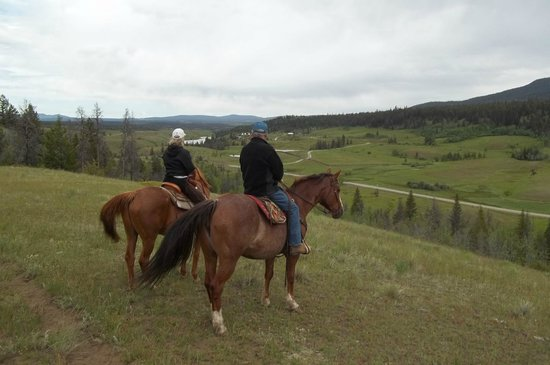 Big Bar Guest Ranch: Amazing view on the ride