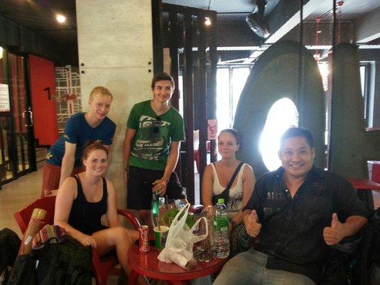 SOHOstel: My dorm mates at lobby.