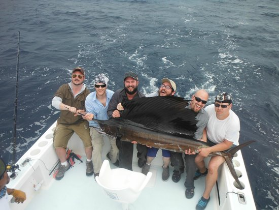Quepos Fish Adventure Private Day Charters: Sailfish was 100lbs, 8ft