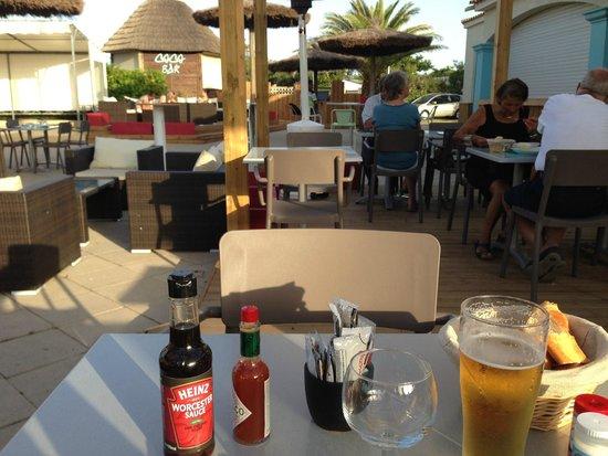 Camping Sandaya les Tamaris : Terrasse restaurant