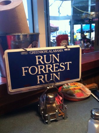 Bubba Gump Shrimp Co: How to hail your waitron: flip this to 'Stop, Forrest, Stop'