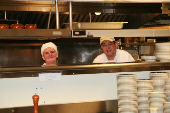 Inn At Spanish Head: A couple of the bashful kitchen staff