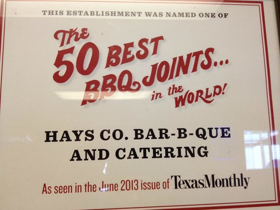 Hays County BBQ: Right they are !!