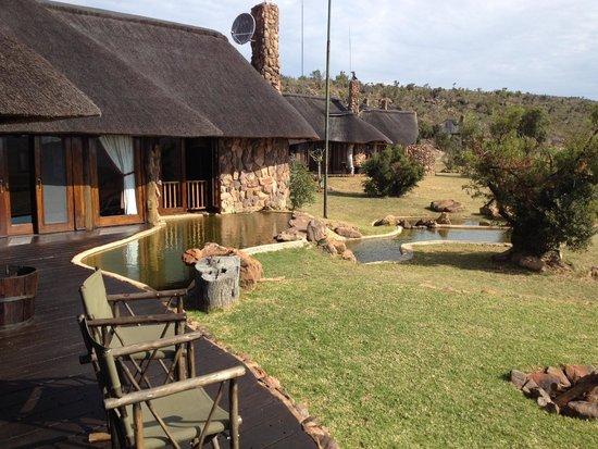 Pitse Lodge: Lodges - uitzicht vanaf het terras