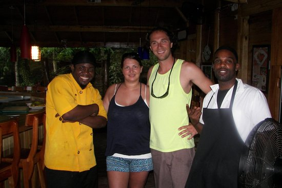 Zimbali's Mountain Cooking Studio: Cook and his assistant