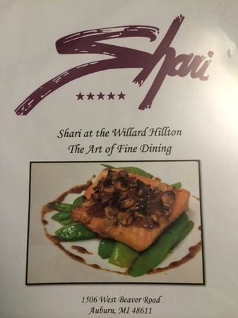 Shari At the Willard Hillton: Menu Cover