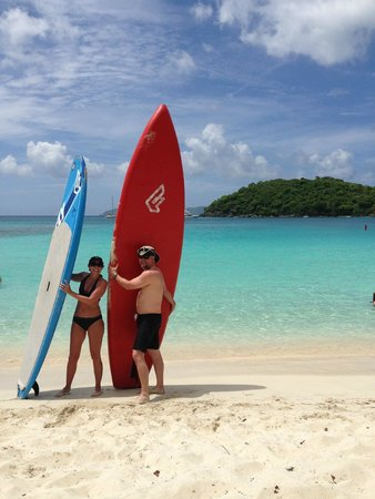 SUP St. John - Learn to Paddleboard in the USVI: Me and my fiance'