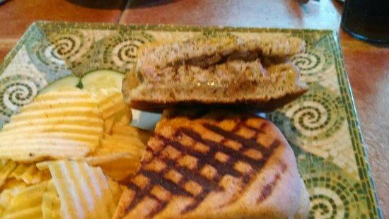 Petrillo's : Homemade jerk chicken sausage panini. Awesome!