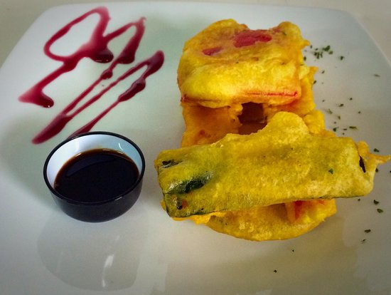 Kin Cafe & Lounge: Tempura de verdura