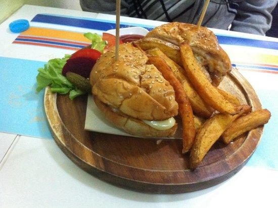 Chef Bar: The lamb burger.