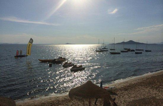 Daddy's Hobby: Langsam senkt sich der Tag am Mar Menor (Blich von Terrasse)