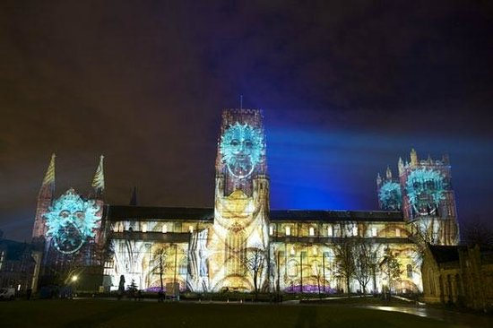 Cathédrale de Durham : Lumiere festival