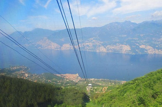 View Of Lake Garda From Cable Car Picture Of Funivia Malcesine