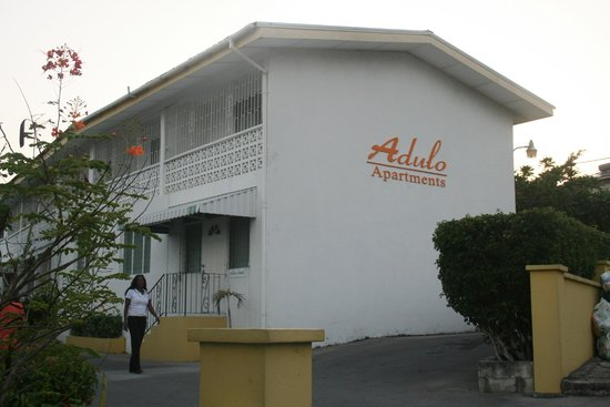 Entrance to Adulo Apartments