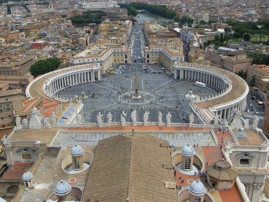 St. Peter's Square (Piazza San Pietro) : View from Cupola di San Pietro