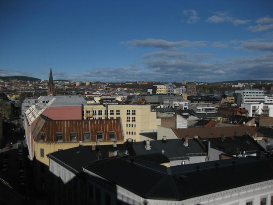 Comfort Hotel Xpress Youngstorget: Vistas terraza hotel