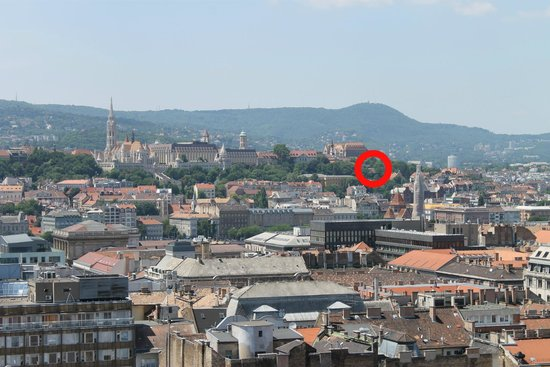 Hotel Castle Garden: View from St Stephens Basilica of the hotel and surrounding area