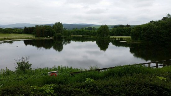 Days Inn Lockerbie Annandale Water: Don't be fooled by the view. Lake is full of chairs,  bins and rubbish!