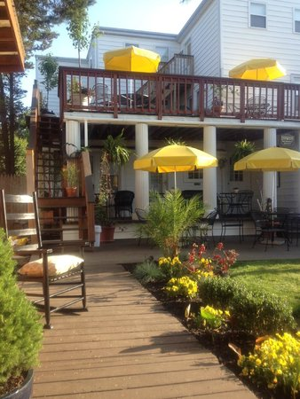 Rehoboth Guest House: Back yard gardens are really beautiful!