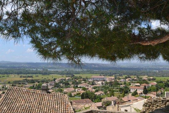 Le Verger des Papes: vue de la terrasse