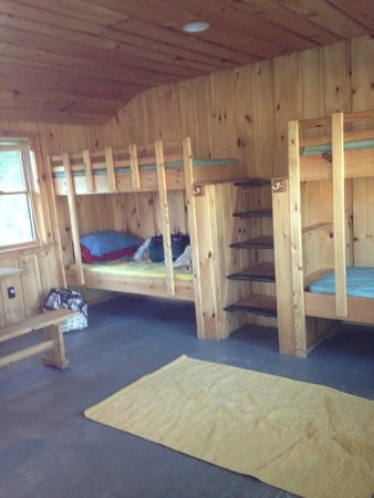 Allegany State Park Campground: inside our cabin Congdon