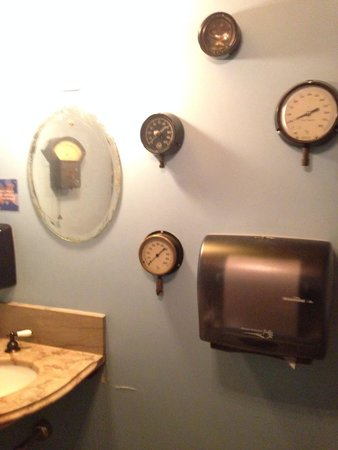 Water Street Coffee Joint: Eclectic unisex restroom