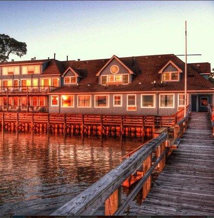 Inn at Corolla Light: The Inn during sunset from the pier