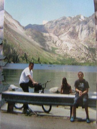 Convict Lake Resort: my boys @ the dock 2007