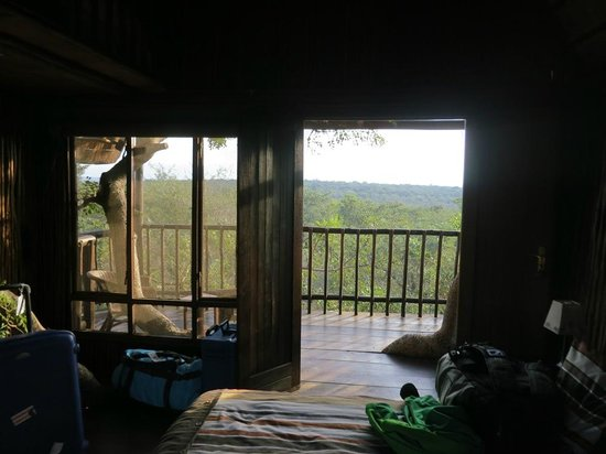 Bona Ntaba Self Catering Tree House Lodge : view from inside