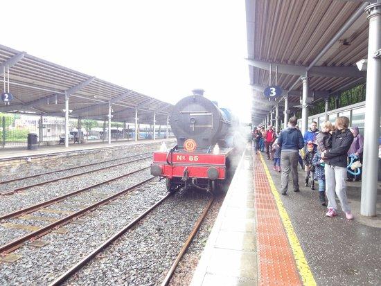 Steam Train Rides: The train at Bangor