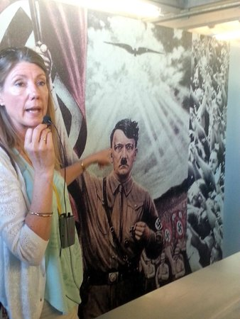 Eagle's Nest Historical Tours: Christine Harper during the tour of the Documentation Center