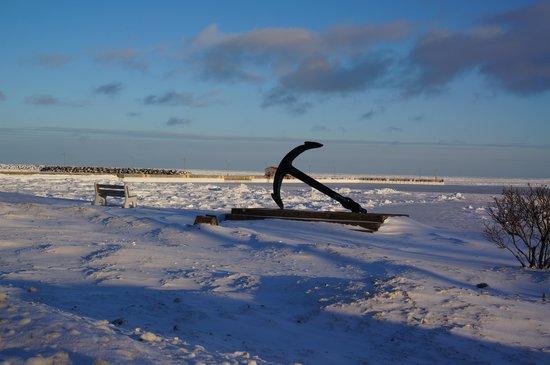 La Seigneurie des Monts : vue sur le fleuve en hiver