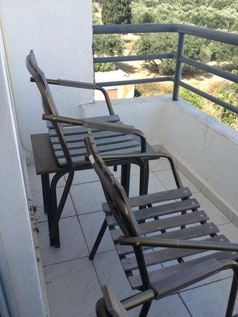 Smartline Sergios Hotel: Very small balcony