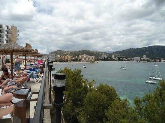 Alua Palmanova Bay : View from Outside seating area
