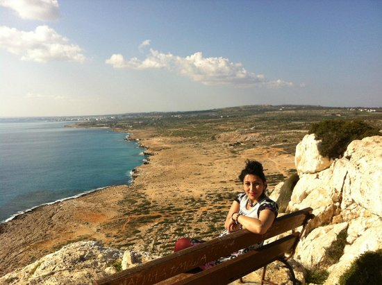 Cape Greco (Cavo Greco): Sitting on the bench
