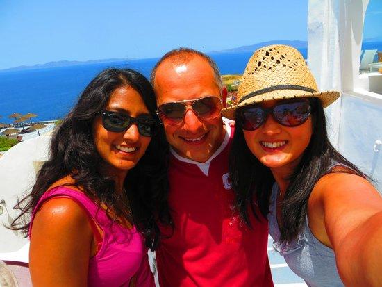 Ochre Restaurant: A selfie with Kostas, our lovely waiter