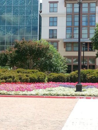 Gaylord Texan Resort & Convention Center: Lovely gardens from the convention center exit