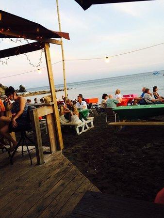Mr. Xu0027s Shiggidy Shack Beach Bar Setting up tables on the beach & Setting up tables on the beach - Picture of Mr. Xu0027s Shiggidy Shack ...