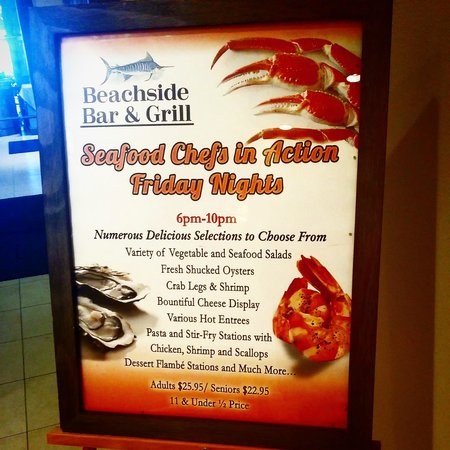 Beachside Bar & Grill: Friday Night Seafood Buffet