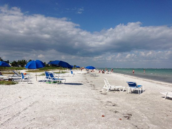 Sanibel Moorings Resort : beach