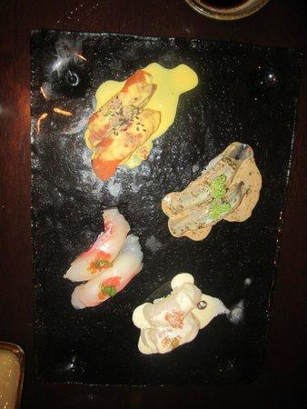 Maido: nigiri with peruvian flavors